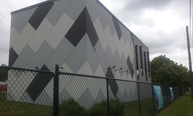 External corner view of new courts
